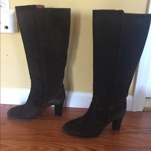 JCrew dark brown heeled boots